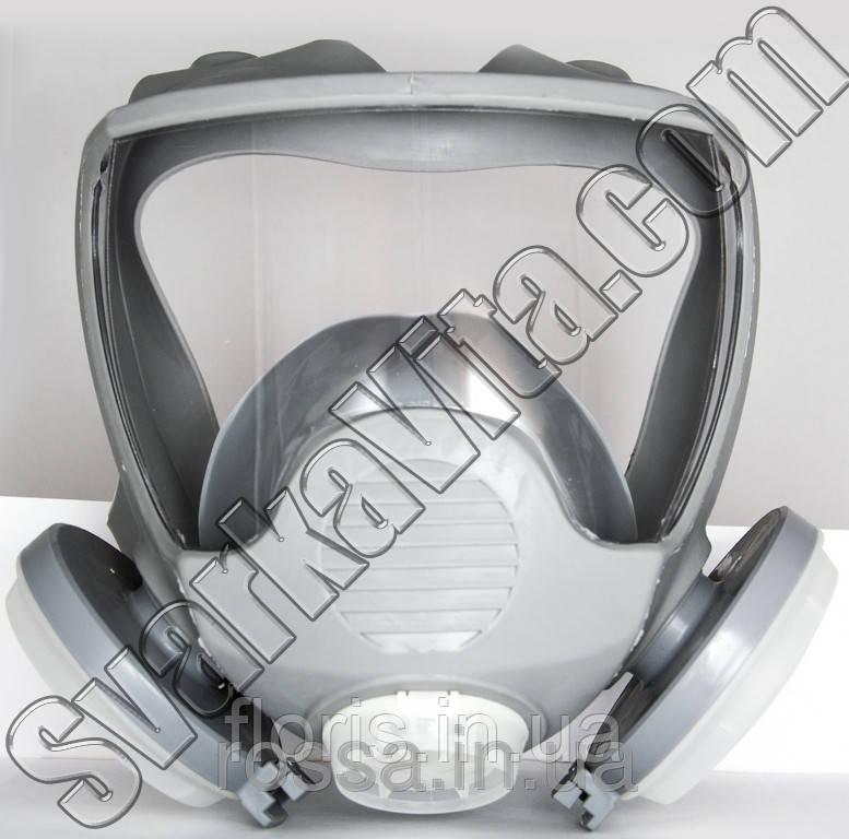 Маска лицевая обзорная с пылевыми фильтрами (диски) в резиновой оправе