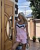 Нежный летний костюм: майка на тонких бретелях и шорты с лампасами, фото 3