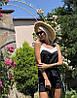 Нежный летний костюм: майка на тонких бретелях и шорты с лампасами, фото 7