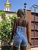 Нежный летний костюм: майка на тонких бретелях и шорты с лампасами, фото 2