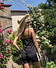 Нежный летний костюм: майка на тонких бретелях и шорты с лампасами, фото 8