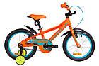 """Детский велосипед с дополнительными колесами 18"""" Formula STORMER 2019 (оранжевый), фото 4"""