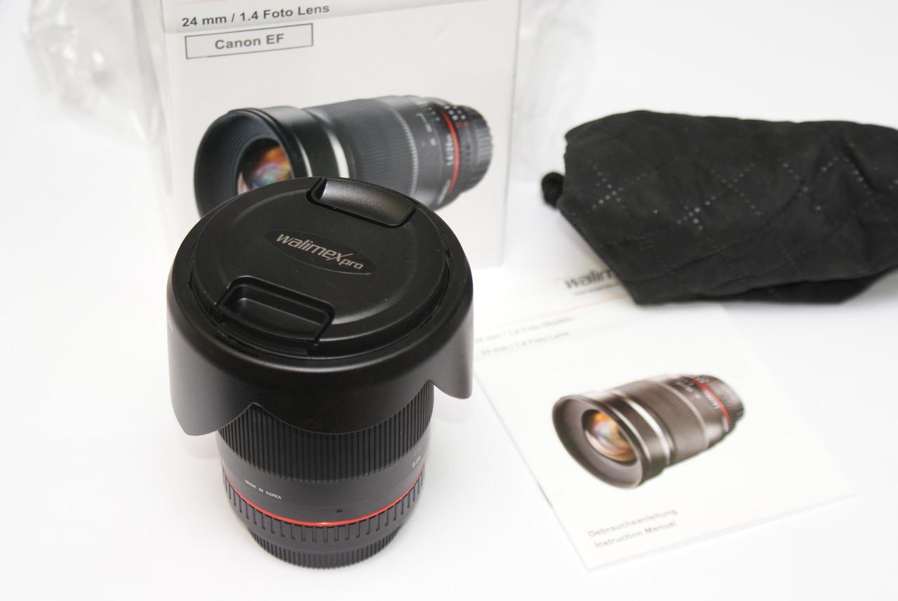 Walimex Pro (Samyang) 24mm / 1.4 Canon EF