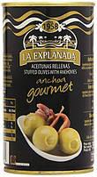 Оливки зеленые фаршированные анчоусом Olives with Anchovies La Explanada 1400г / 700г Испания