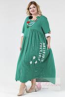 Платье легкое свободное POMPADUR (Турция)  штапель 52- 64р