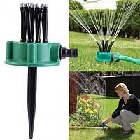 Спринклерний зрошувач 360 multifunctional Water Sprinklers розпилювач для газону, фото 1