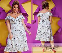 Летнее платье Батал Перо, фото 1