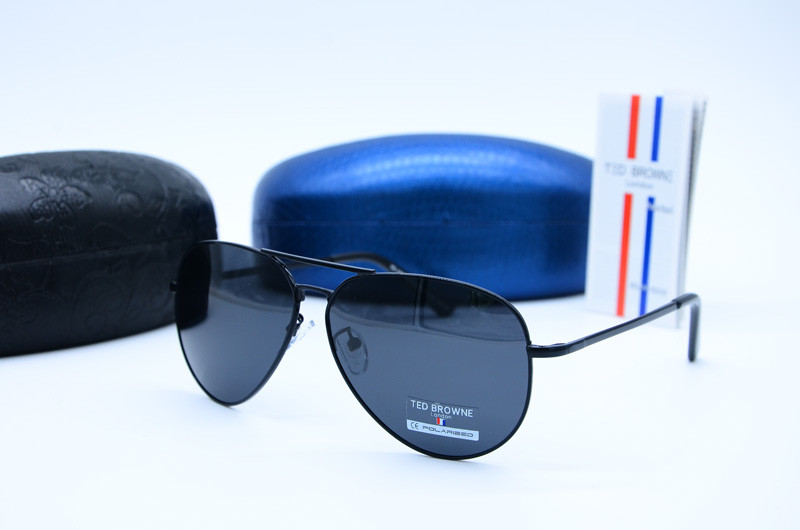 Мужские солнцезащитные очки Авиатор 1008 черн