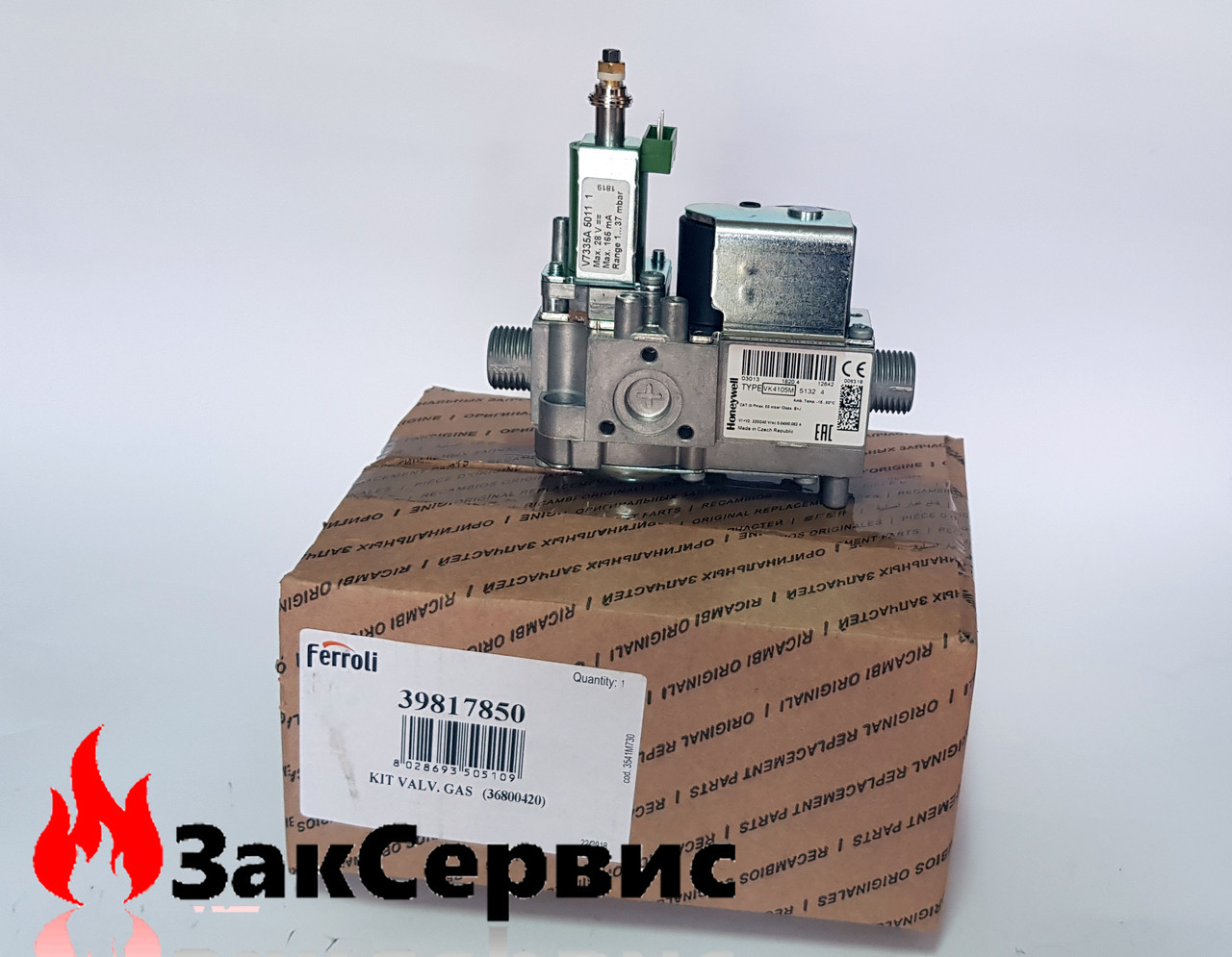Газовый клапан на котел Ferroli Domitech C/F new, Divatop, New Elite, Domicondens39817850 36800420