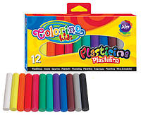 Пластилин 200гр. Colorino набор 12цв. по 18гр 13291