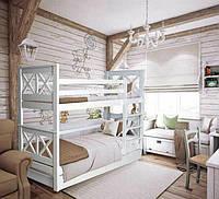 Кровать детская деревянная двухъярусная Лея ТМ Мистер Мебл