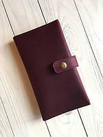 Женский кошелек из натуральной кожи Goose™ G0026 марсала ручной работы