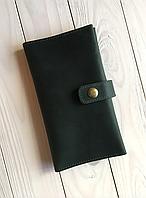 Женский кожаный кошелек ручной работы Goose™ G0028 зеленый