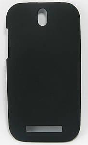 Чехол накладка для HTC Desire SV T326e пластиковый матовый, черный