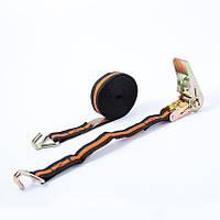 Стяжной ремень CarLife ✓ 5 метров с трещеткой и двумя крючками