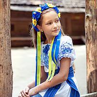 Українські віночки оптом (синьо-жовті)