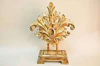 Резной барочный декор желто-золотистого цвета из полирезинга(27x13x55 см)купить в подарок.