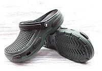 Кроксы, сабо зеленые / черная середина. Размеры 36, 37, 38. Jose Amorales 115546.