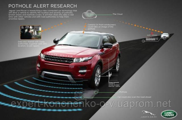Jaguar Land Rover учит автомобили избегать ям на дорогах.