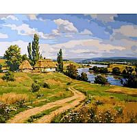 """Картина по номерам, картина-раскраска """"Украинский пейзаж"""" 40Х50см VP350"""