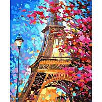 "Картина по номерам, картина-раскраска""Весенний Париж"" 40Х50см VP612"