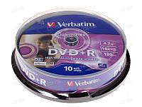 Диски DVD+R Verbatim LightScribe 10 шт упаковка