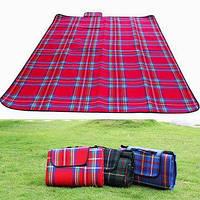 Водонепроницаемый коврик подстилка плед для пикника и моря 175-135 см -сумочка