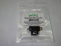 Кабель Видео Perfeo A7006 адаптер HDMI A () - micro+mini HDMI D (п), фото 1