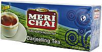 """Чай черный индийский """"MeriChai"""" """"Дарджілінг"""" 25пак 50г.(+ложка)"""