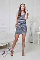 Короткое женское платье тельняшка, фото 1
