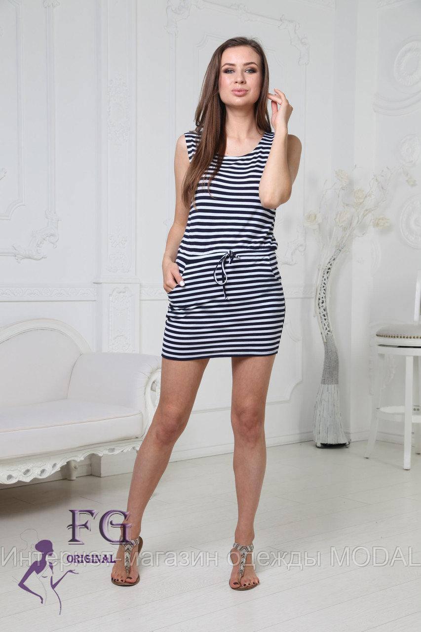 ad651d28060 Короткое Женское Платье Тельняшка — в Категории