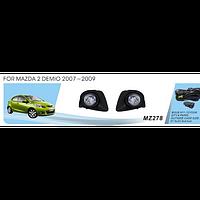 Фары дополнительные модель Mazda 2 Demio/2007-09/MZ-278/эл.проводка
