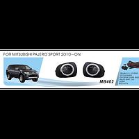 Фары дополнительные модель Mitsubishi Pajero Sport 2010+, эл.проводка