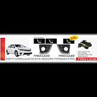 Фары доп.модель Toyota Corolla 2014-/TY-662-L2LED/накладки с DRL+Повороты/электропроводка (TY-662-L2LED)