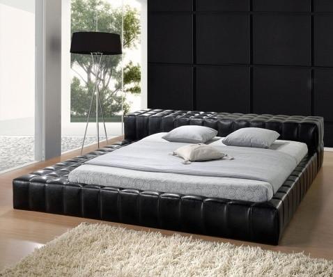 Кровать двухспальная Люкс Калифорния (California) черный.