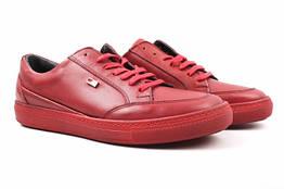 Туфли спорт GCC натуральная кожа, цвет красный