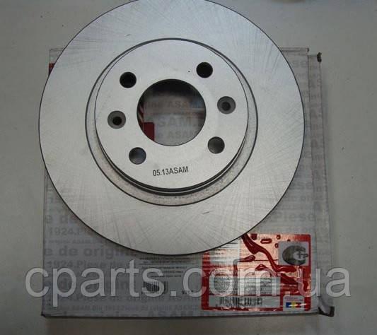 Диск тормозной передний не вентилируемый Dacia Sandero (Asam 30178)(среднее качество)