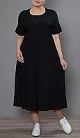 Легкое летнее платье свободного фасона, с 48-98 размеры, фото 1