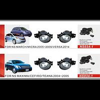 Фары доп.модель Nissan Maxima/Qashqai -08/Micra 05-09/NS-034-LED-1/2в1/эл.проводка (NS-034-LED-1)
