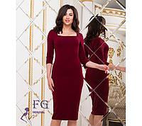 Женское приталенное платье миди