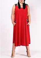 Платье-сарафан А-силуэта на пышных женщин, с 48-98 размеры, фото 1