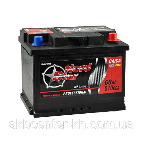 Автомобильный аккумулятор NORD STAR ECONOMY MF 6СТ  60Аз 510 R