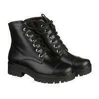 Черные зимние кожаные ботинки, фото 1