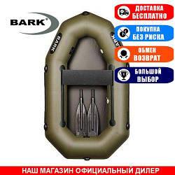 Лодка Bark B-190D. Гребная, 1,90м, 1 место, 850/950ПВХ, сдвиж. с-нья, без днища, гребки. Надувная лодка ПВХ Барк Б-190Д;