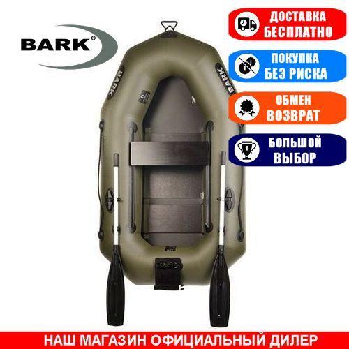 Лодка Bark B-210CN. Гребная, 2,10м, 1 место, 850/950 ПВХ, сдвижные сиденья, реечное днище, навесной транец. Надувная лодка ПВХ Барк Б-210СН;