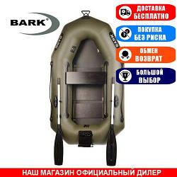 Лодка Bark B-210CN. Гребная, 2,10м, 1 место, 850/950ПВХ, сдвиж. с-нья, реечное днище, транец. Надувная лодка ПВХ Барк Б-210СН;