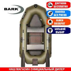 Лодка Bark B-230CND. Гребная, 2,30м, 2 места, 850/950ПВХ, сдвиж. с-нья, сплошное днище, транец. Надувная лодка ПВХ Барк Б-230СНД;