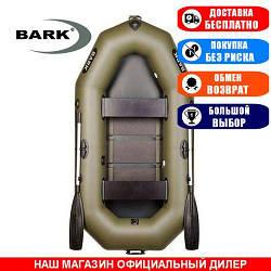 Лодка Bark B-240C. Гребная, 2,40м, 2 места, 850/950ПВХ, стац. с-нья, реечное днище. Надувная лодка ПВХ Барк Б-240С;