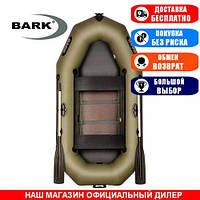 Лодка Bark B-240CD. Гребная, 2,40м, 2 места, 850/950ПВХ, сдвиж. с-нья, реечное днище. Надувная лодка ПВХ Барк Б-240СД;