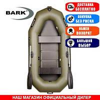 Лодка Bark B-260. Гребная, 2,60м, 2 места, 850/950ПВХ, стац. с-нья, реечное днище. Надувная лодка ПВХ Барк Б-260;